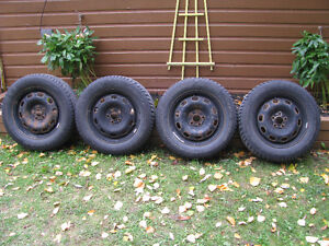 4 - Good Year Eagle Ultra 205 60 R 15 M & S Snow Tires For Sale Kawartha Lakes Peterborough Area image 1