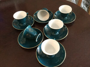 Vintage 1970's espresso cups set of 6