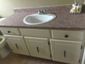 Top Vanity with faucet 48 inch
