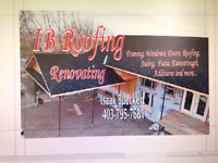 If your roof needs done call IB Roofing for a quote