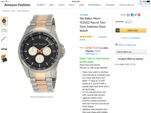Ted baker multifuctional watch day weak hour stainless steel