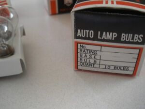 12 VOLT AUTO BULBS  ( BRAND NEW IN BOXES )