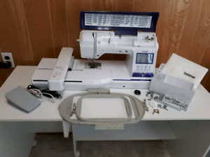 Brother NQ3500 sewing, embroidery, and quilting machine.