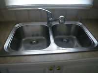 kitchen sink double with tap