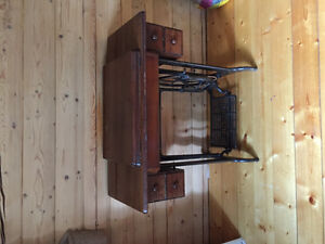 Treadle sewing machine also electric Prince George British Columbia image 1