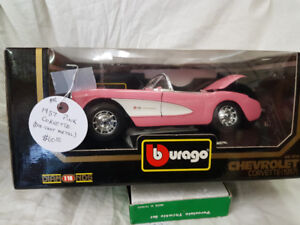 1957 Pink Corvette Die-cast Metal Model Car