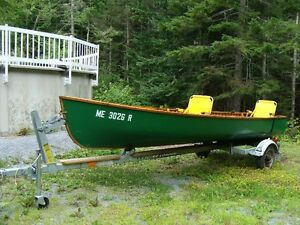 LARGE CANOE WITH TRAILER - NEW PRICE