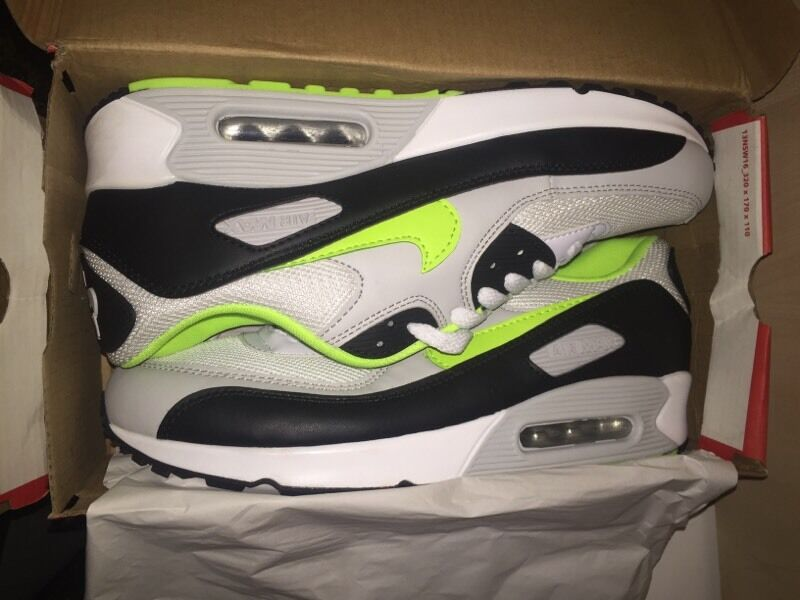 uyshk Brand New Nike Air Max 90\'s With Box - Size 9 Green/Black/Grey