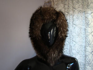 Fox and Racoon Fur Hood- Beautiful Hat!!
