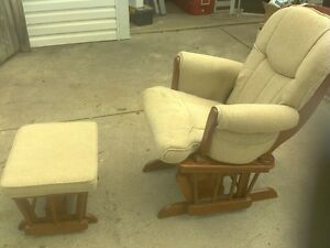 Sherman Glider Rocker and Ottoman