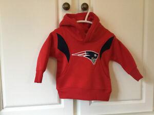 New England Patriots Hoodie.    6-12 Months