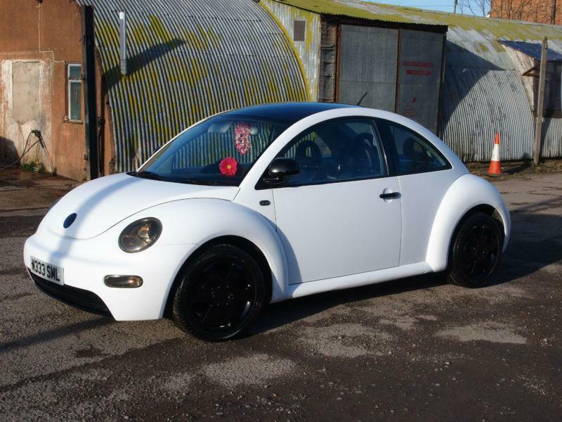 2000 Volkswagen Beetle 2 0 Matte White With Black Roof And