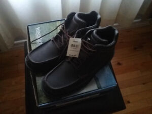 MENS ROCKPORT BROWN LEATHER BOOTS