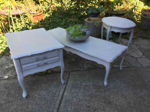 French Provincial Coffee and End Tables