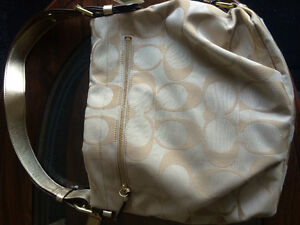 Authentic Beige Coach purse