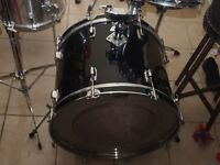 bass drum black and white badge usa echange bass drum tama