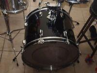 bass drum black and white badge usa echange bass drum tama