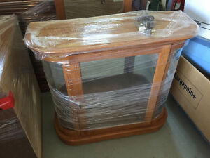 small entrance or hall china cabinet with matching mirror
