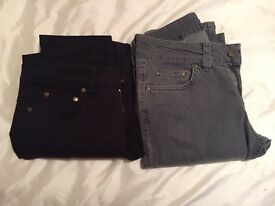2 pairs of womens jeans size 10