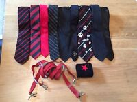 Selection of goth/punk ties
