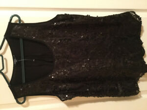 2 beautiful sequin tops size m