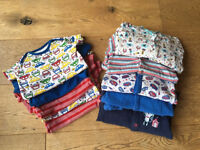 5 x baby grows, 5 x vests 12-18months