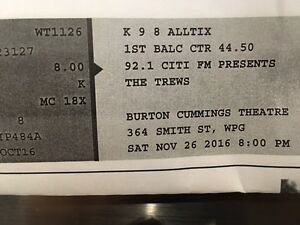 The Trews tickets! 2 for Nov 26th @ the Burt