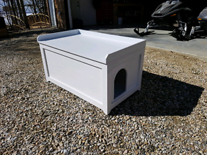 Entry bench/cat litter box container