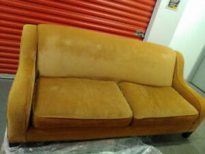 Beautiful RETRO antique gold colored couch-free delivery