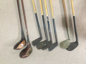 Vintage Antique Golf Clubs - Eight total