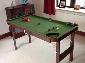 Children's snooker table.