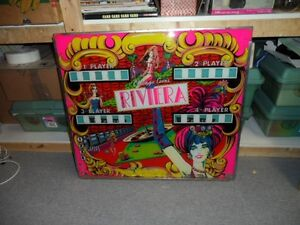 RIVIERA PINBALL BACKGLASS BY CHICAGO COIN London Ontario image 2