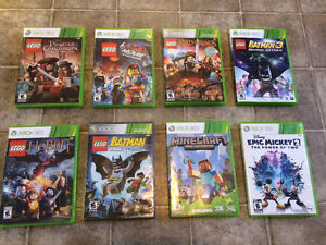 Assorted XBox 360 Lego Video Games