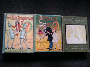 3 Original Co. 1919 , L Frank Baum Oz Books