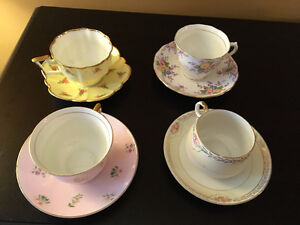 NEWLY REDUCED - 4 Cup and Saucer Sets