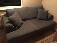 Next stratus II grey medium sofa