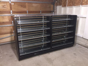BLACK SLATWALL GONDOLA SHELF - $350 OBO