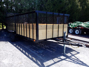 16 x 80'' utility trailer high sides 1 year old