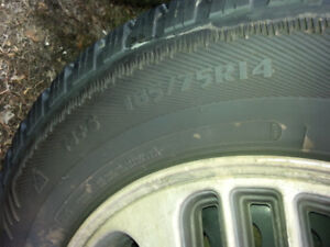 14 inch studded winter tires on rims