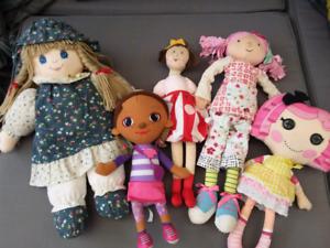Plush doll bundle