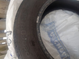 Four lightly used tires on sale