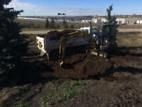 Water and sewer lines repair trenching excavation