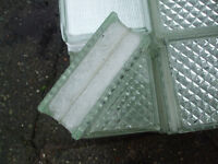 VINTAGE ARCHITECTURAL GLASS BUILDING WALL WINDOW BLOCKS