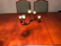 Solid Cherry Extending Cherry Wood Oval Dining Table With 8 Chairs Inc Two Carvers 166-217cm