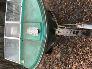 16 FT ALCANBOAT WITH 70 HP MOTOR AND TRALER WORKS WELL