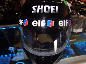 Shoei full face helmet with clear&tinted -XL. recycledgear.ca