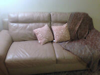 URGENT Sale - Genuine leather 2000$ couch for only 300$