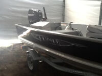 2013 wd 14 deep and wide 25 hp mercury