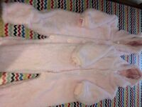Cosy pink snow suits 12-18