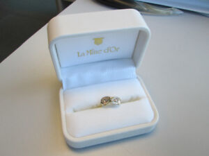 Custom Made Double Diamond Engagement Ring